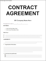 agreement template between two parties free download blank contract agreement form sample for company with