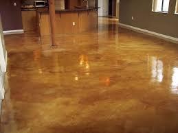 Concrete Kitchen Floors Dark Polished Concrete Floor In Floor Lighting In Concrete Living
