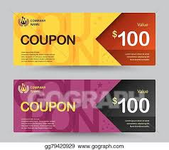 Coupon Template Enchanting EPS Illustration Gift Voucher Card Template Design For Special