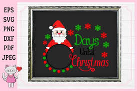 Christmas fireplace is one more free christmas countdown clock for windows. Days Until Christmas Graphic By Magic World Of Design Creative Fabrica