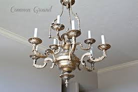 faux painted chandelier