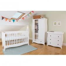 white furniture nursery. Little House Brampton 3 Piece White Nursery Furniture Set, With FREE Sprung Mattress R