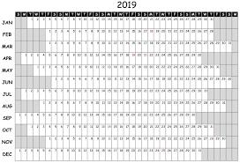 Free 2019 Attendance Calendar Magdalene Project Org