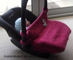 knitted baby car seat blanket newborn