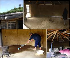 after completing the strawbale walls and the roundwood reciprocal roof of the milkwood roundhouse we wanted a gorgeous floor to complete this hand crafted
