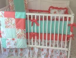 gold c and aqua mint baby girl crib bedding set watercolor fl arrows herringbone deposit red