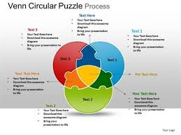 Powerpoint 2010 Venn Diagram Backgrounds Circular 3 Stages Venn Diagram Puzzle Process Diagram