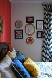 Navy, Coral and Yellow Bedroom Reveal