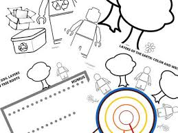 1 Science Coloring Page Lego Earth Science Coloring Pages Earth Day