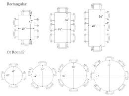 rectangular table sizes standard round size d for 8 dining room weddings rectang rectangular table sizes