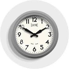 retro grey kitchen wall clock newgate clocks electric homeware