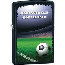 personalized football in stadium black matte zippo lighter