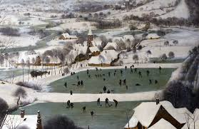 pieter bruegel the elder hunters in the snow winter article  ice skating and other winter activities detail pieter bruegel the elder hunters in the snow winter 1565 oil on wood 162 x 117 cm kunsthistorisches