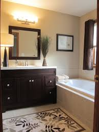 Dark Cabinet Bathroom Bathroom Wall Color With Dark Cabinets Love The Soothing Colors