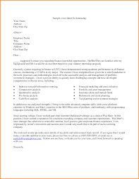 Sample Cover Letter For Internship Sample Cover Letters For Internships In Finance Eursto 23