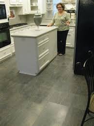 kitchen floor laminate tiles images picture: a new white kitchen upgraded with quick step quadra charcoal slate tiles laminate
