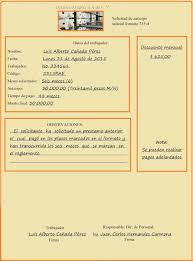 Formato De Carta De Solicitud Ejemplo De Carta De Solicitud De Anticipo