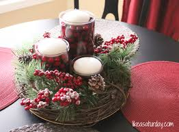 Small Picture Pretty Handmade Christmas Centerpieces Table Like A Saturday