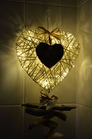 Large Wicker Heart With Lights Large Wicker Heart Filled With Led Battery Operated Lights
