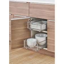 ecostorage 11 5 in w x 17 75 in d x 6 25 in h chrome wire in cabinet pull out bottom mount wire drawer