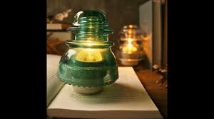 easy diy vintage insulator lamp