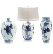 blue and white lamps. Limited Production Design Stock: 31\ Blue And White Lamps