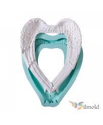 frame shaped like angel wing big silicone mold