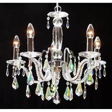 fantastic lighting. fantastic lighting mozart 605/5 chrome with aurora borealis peardrop trimmings chandelier h
