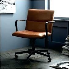 mid century desk chair. Mid Century Desk Chair West Elm White Leather No Wheels