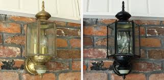 light fixture before left and after right painting