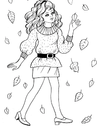 Small Picture Fashionable Girls Coloring Pages 9 Fashionable Girls Kids Coloring