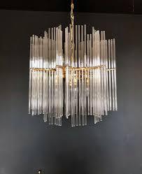 Wunderschöner Palwa Kronleuchter Mit Glasstäben Mid Century