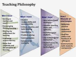 educational philosophy and practice marc berger s teaching portfolio statement of educational philosophy