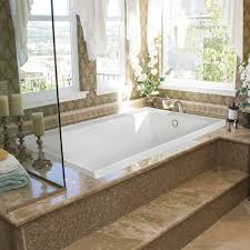 upgrade your bathroom with whirlpool tub mosaic tile tub surround and whirlpool tub with pillar candle