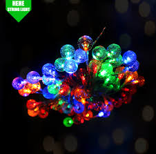 Batteries For Solar Christmas Lights Color Changing 6m 20 Led Christmas Battery Cotton Ball String Light Led Solar Christmas Ball Light Buy Color Changing Led Christmas Lights 6m 20 Led