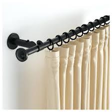 curtain rods brackets bay window track best small pole wooden rod bunnings