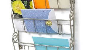 office key holder. 3 Tier Letter Mail Rack With Key Holder Office Kitchen Wall