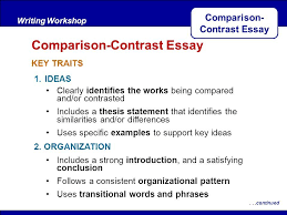Essay Of Comparison And Contrast Examples Thesis Statement Example For Compare And Contrast Essay