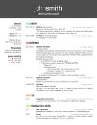 English Resume Template Simple Resume Templates Latex Coachoutletus