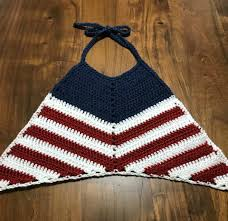 American Flag Crochet Pattern Magnificent American Flag Crochet Halter Top Pattern Taylor Lynn