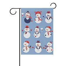 Amazon Com Cdvek9ca Cute Colorful Snowmen Garden Flag Yard