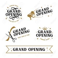 Lettering Templates Grand Opening Templates Set Lettering Design Elements For Opening