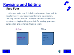 research the writing process steps in writing an essay ppt  revising and editing step four