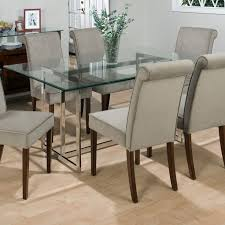 Furniture Outstanding Glass Top Dining Table In Rectangular
