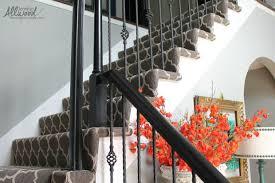 patterned stair carpet. Black Handrails On Stairs Patterned Stair Carpet H