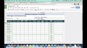 Biweekly Timesheet Excel Tutorial Biweekly Timesheets Using Google Spreadsheets