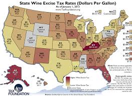 Weekly Map State Wine Excise Tax Rates 2013 Tax Foundation