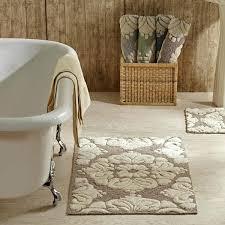 beige bath rugs 2 piece medallion pattern cotton tufted bath rug set by better beige and