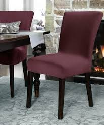 loving this boysenberry harlow dining chair slipcover on