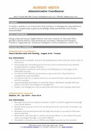 Administrative Assistant Coordinator Resume Samples QwikResume Interesting Administrative Coordinator Resume